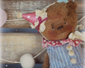 Theo :) OOAK Vintage Style Sweet Artist Teddy Bear by Natali Sekreta -  Antique style  - stuffed - home decor - gift - Birthday