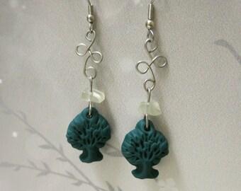 Tree of Life Moonstone Knot Earrings **SALE PRICE**