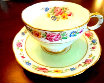 Vintage Tea Cup &  Saucer Adderley Bone China England