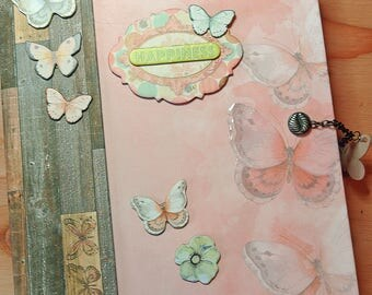Butterfly Kisses Scrapbook Album or Photo Album, Handmade, Interactive