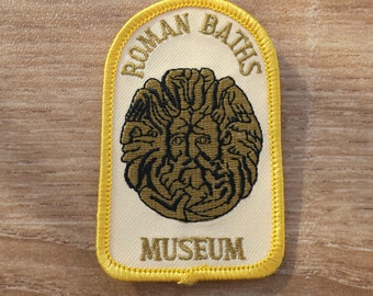 Vintage Embroidered Roman Baths Museum Travel Patch