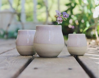 Set of 3 Bud Vases in Lilac Sunset
