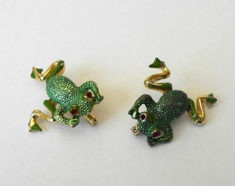 CIJ SALE Vintage Frog Scatter Pins Brooches articulated legs