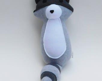 Handmade Plush Raccoon