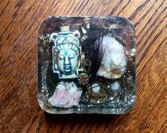Kwan Yin, Kwan Shi Yin, Kuan Yin, Altar, Shrine, Tibetan Quartz Activator,  Goddess of Compassion, Unconditional Love
