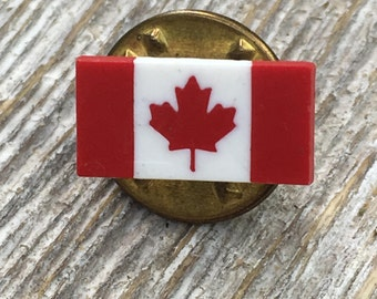 Canadian Flag Vintage Tie Tack Hat Lap Pin
