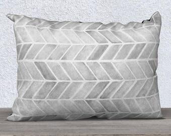 Gray Tribal Pillow, Gray Throw Pillow, Gray Pillow Cover, Gray Accent Pillow, Gray Nursery Pillow, Gray Lumbar Pillow, Gray Arrow Print