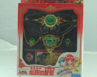 Rare New Magic Knight Rayearth Clamp SEGA Legendary Tiara Pendant Earring Ring
