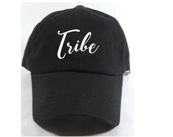 Tribe Embroidered Adjustable Dad Baseball Cap Twill 6 Panel Hat - Baseball Cap