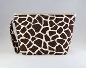 Giraffe Print Makeup Bag - Accessory - Cosmetic Bag - Pouch - Toiletry Bag - Gift