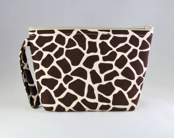 Giraffe Print Makeup Bag - Accessory - Cosmetic Bag - Pouch - Toiletry Bag - Gift