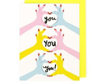 Love Love Love You Card