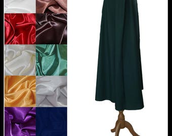 High Quality Unisex Dark Green Poly Cotton Fighting Cloak lined with Shimmer Satin. Ideal for LARP Medieval Costume. Made especially for you
