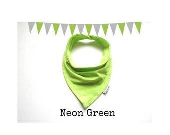 Bandana Bib in Neon Green