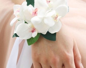 Orchid Wrist Corsage in White