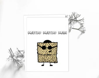 Funny Passover Card, Passover Card, Matzo Card, Jewish Holiday Card, Card for Men, Card for Him, Funny Passover Feast Card, Religious Card