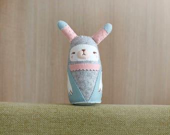 OOAK Bunny Plush - Home Decor - Bunny Collection - Bunny plushie - Softoy - Stuffed Animals - Nusery Decor - Ready to Ship