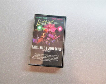 1970s Hall and Oates Livetime cassette tape, live music cassette tape