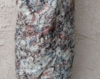 Vintage ethnic batik cotton convertible maxi skirt or wrap dress hippie boho festival