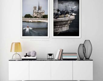 set of 2 prints Notre Dame Paris photography New home decor/Girlfriend gift for her/Paris Print/Paris Decor/Travel Photography/Paris bedroom
