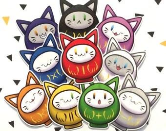 Daruma doll cat Sticker
