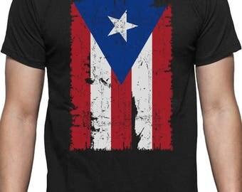 Vintage Distressed Puerto Rico Flag T-Shirt
