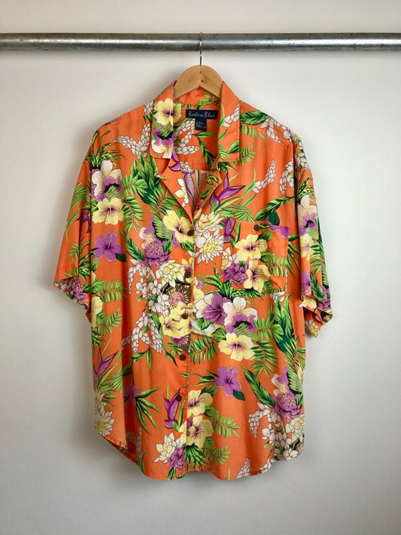 Vintage Men's Floral Hawaiian Shirt
