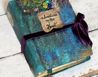 Woodland wedding guest book, wedding scrapbook, handmade photo album - Made to order  9x6 inches Forest Finds