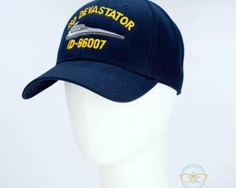 Star Wars Hat - ISD Devastator - Darth Vader Star Destroyer - Embroidered Geeky Baseball Cap - Naval Hat Inspired