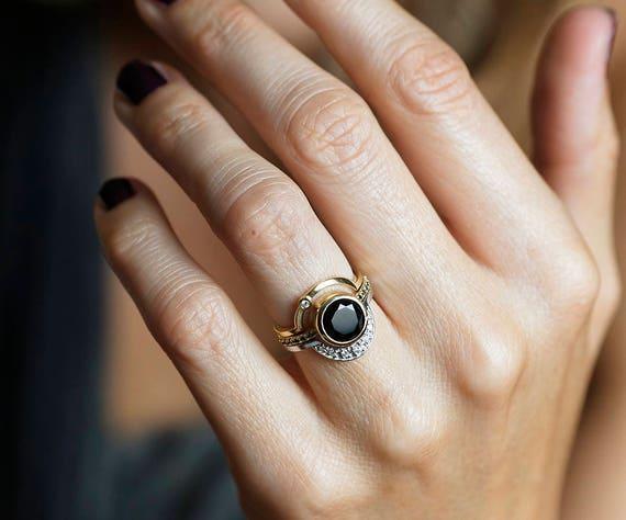 Alternative Engagement Ring Set Alternative Ring Set Eclipse