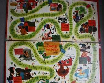 Uncle Wiggily Vintage Game Board