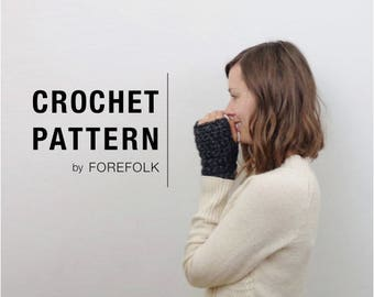 Crochet Pattern | Fingerless Mittens Wrist Warmers | THE NANTUCKETS Instant Download