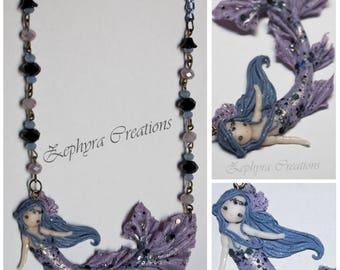 Lilac Mermaid - Handmade Necklace