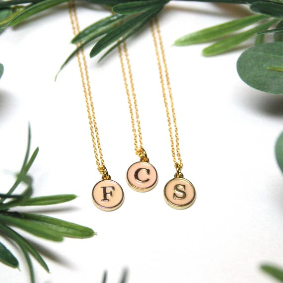 Bridesmaid Gift. Bridesmaid jewelry set. Bridesmaid jewelry set of 6. Will you be my bridesmaid. Initial Necklace. Initial Jewelry.