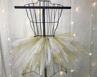 Charlee Tutu - Spike Tutu - Gold and White - Available in Infant, Toddlers, Girls, Teenager, Adult and Plus Sizes
