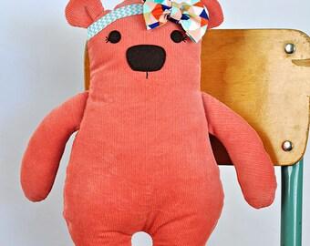 Debonair Bear PDF Pattern, Sewing Pattern, Teddy Bear PDF Sewing Patterns, Instant Download, Softie Pattern