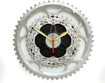 Bicycle Wall Clock - Industrial Wall Clock - Bicycle Clock - Bike Clock - Shimano, Sram - Unique Wall Clock - Boyfriend Gift - Husband Gift