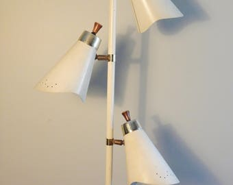 Vintage Mid Century 3 Head Floor Lamp --Atomic Age