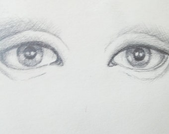 Pencil drawing of eyes