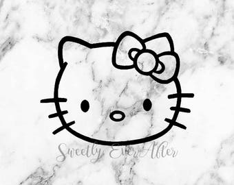 Hello Kitty Decal Sticker - Hello Kitty - Laptop Sticker - Car Truck Vinyl Decal - Planner Sticker - Birthday Gift