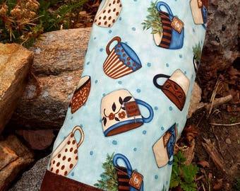 Teacup Grocery Bag Holder, Bag Dispenser, Teacup Shopping Bag Holder, Plastic Bag Holder, Teacup Kitchen Decor, Teacup Gift