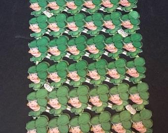 Vintage Die Cut Leprechauns - 36 Per Page - K and L