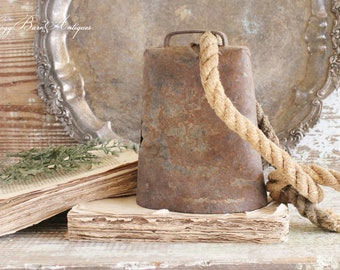 Antique Vintage Cow Bell EXTRA LARGE Livestock Barn Salvage Industrial Farmhouse Decor Fixer Upper Decor Antique Bell