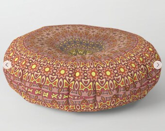 Indian Floor Cushion, Pouf Seating, Mandala Floor Pillow, Mandala Cushion, Indian Cushions, Round Floor Cushions, Floor Pillow Cushion