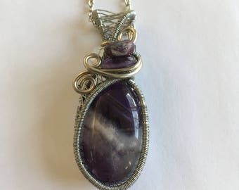 Amethyst Wire-Wrapped Necklace