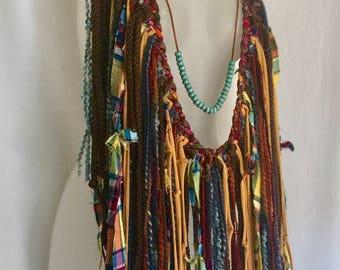 festival clothing,burning man, hippie boho bohemian, hippie scarf, necklace scarf, fringe clothing, boho clothing, boho scarf, hippie gyspy