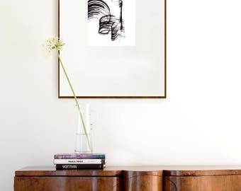 Abstract lines art- minimal abstract art print, abstract, modern ink art print, abstract wall art, minimalist print, modern large print, art