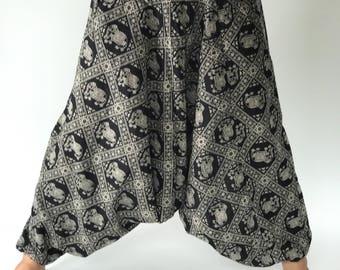 HC0088 Harem Pants Unisex Low Crotch Yoga Trousers, elephant pants