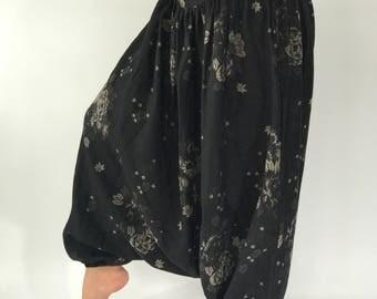 HC0282 Cotton baggy unisex harem pants,Thai cotton Style baggy Yoga Pants, Harem pants