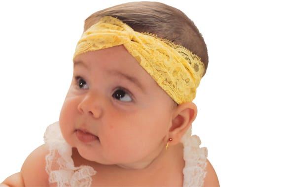 yellow headband, baby headband, newborn headband, baby girl headband, infant headband, toddler headband, yellow headbands, girls headband